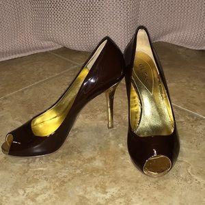 Guess Daniel heels Brown & Gold 7.5